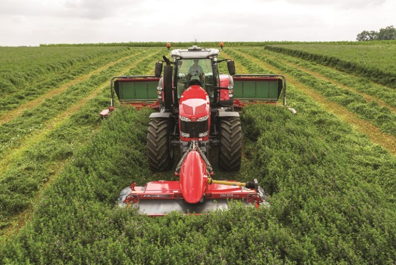 Increased demand for grass and feeding equipment