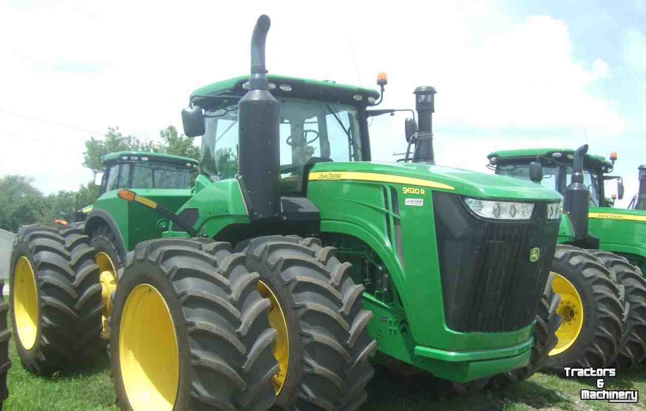 john deere 9620r 4wd articulated tractor il usa  used