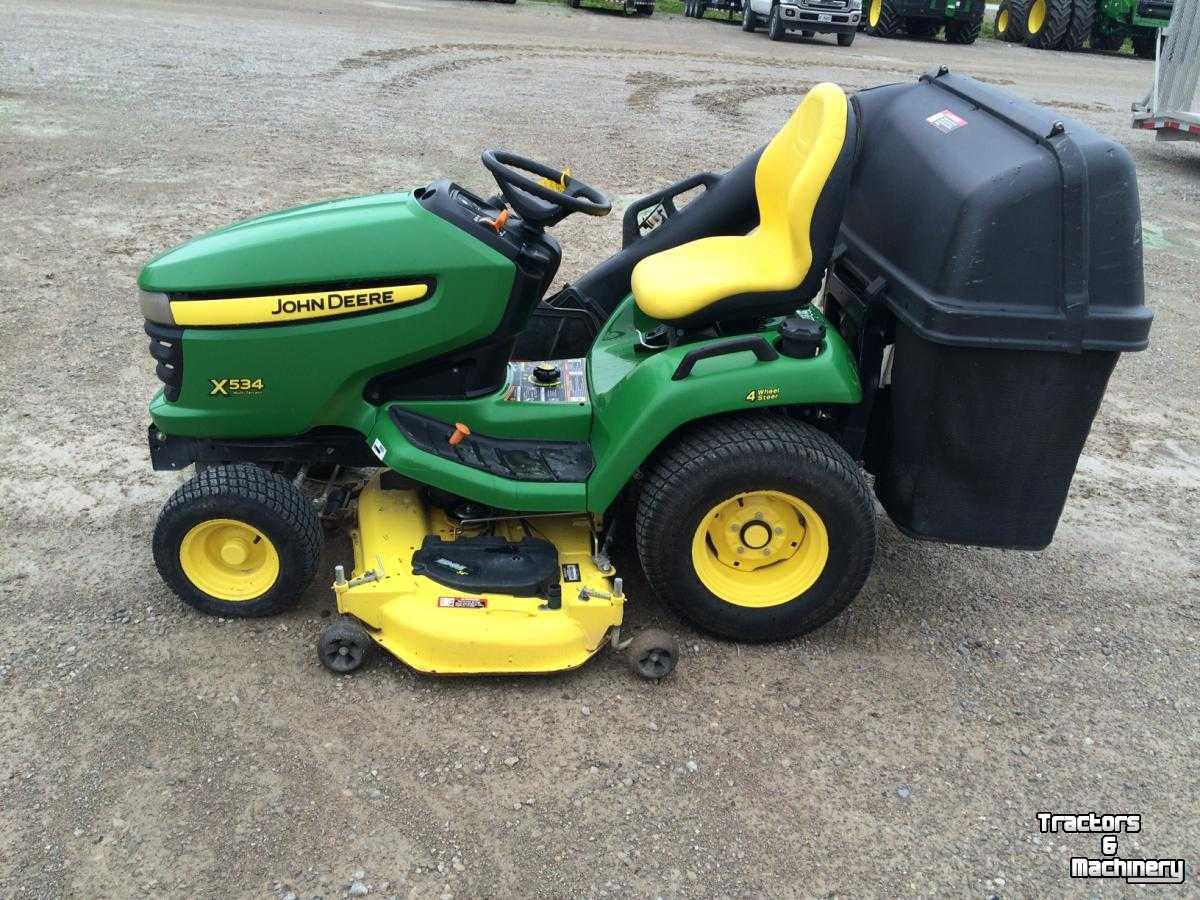 John Deere X534 4wd 3 Blades Lawn Mower Tractor Ontario Used Mower Self Propelled 2014 N0m