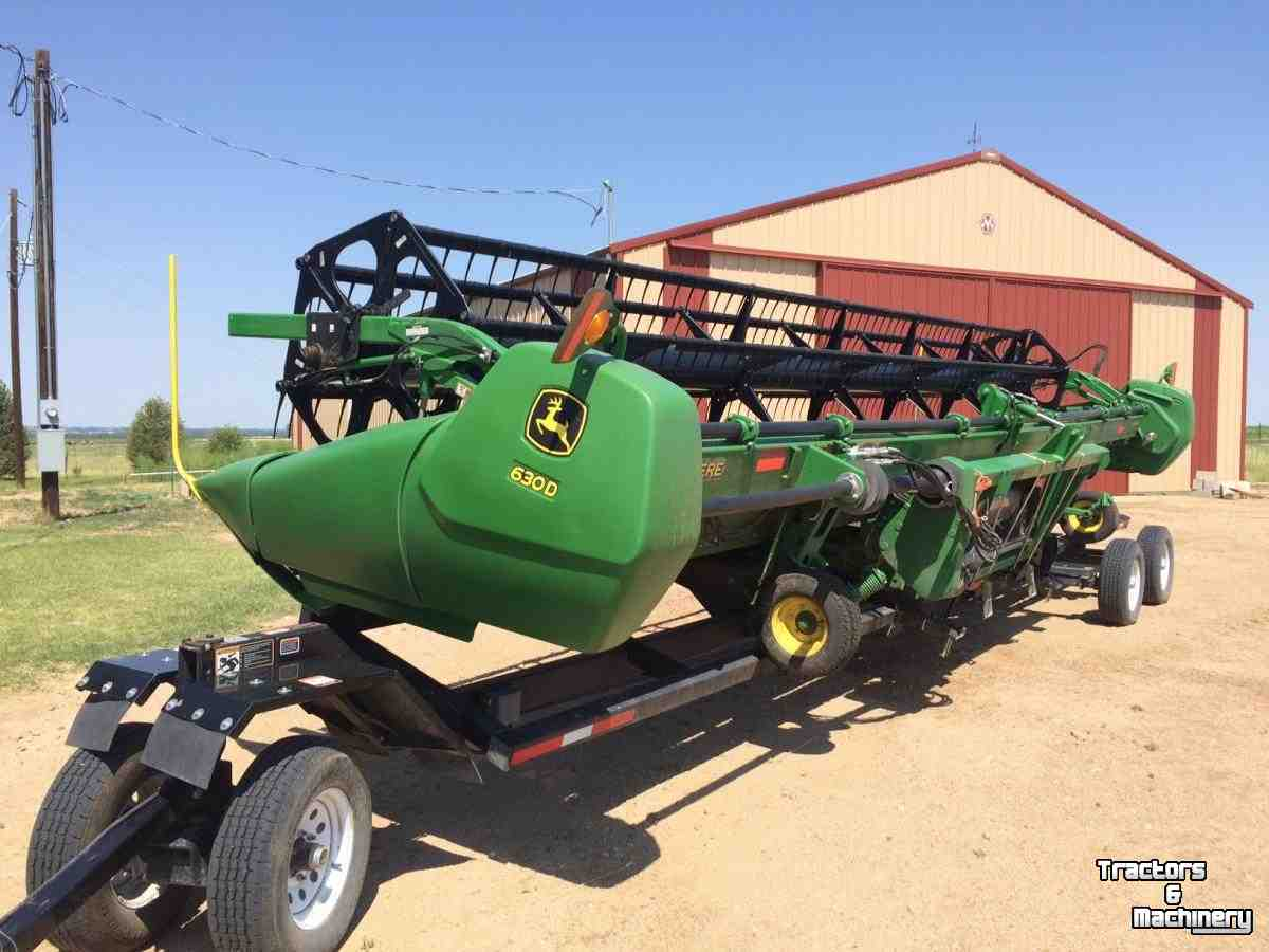 Mtr To Ft John Deere 630d 30ft Platform Draper Header Co Usa Used