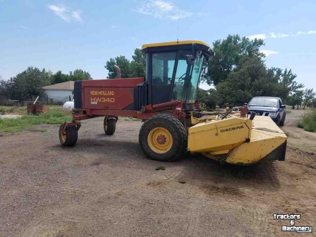 New Holland HW340 SP WINDROWER SWATHER CO USA - Used Mower self-propelled -  2000 - 80631 - Greeley - Colorado - USA